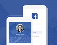 Facebook IOS 8 Redesign