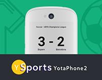 Sport App Ui/Ux for YotaPhone2, Material Design