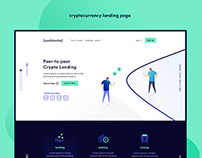 cryptocurrency landing page - UI/UX (work in progress)