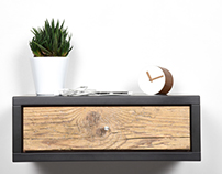 Floating Nightstand/ Bedside Table/