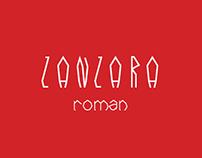 ZANZARA fantasy typeface