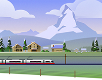 Rail Europe Holiday Card by Atomic Kid Studios