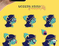 Quirky Madhubani Stickers for telegram | Fables by homa