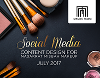 Social Media Calendar for MM Makeup