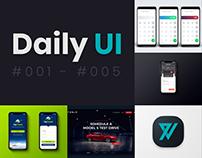 Daily UI   #001 - #005