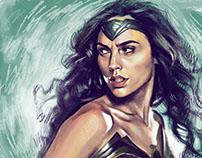 Wonderwoman Digital Painting