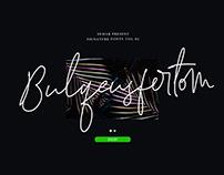 Free Bulqeusfertom Signature Font