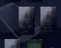 """ Remind Me"" Application UI design concept"