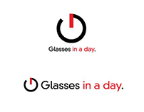 Glasses in a day concept logo variations