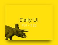 Daily UI challenge #31-35