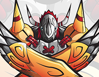 Character Illustration - Vector Wargreymon