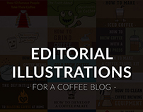 EDITORIAL ILLUSTRATION - FOR A COFFEE BLOG -