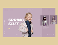 kids fashion website design