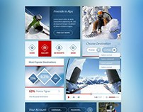 Snow Flakes : Free Winter UI Kit PSD