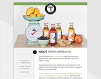 Media Kit for Tonica Kombucha
