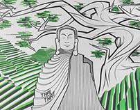 Green Mural | Tape Art around the world: Hanoi