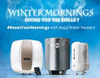 Bajaj- #ResetYourMornings with Bajaj Water Heaters