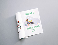 Nike:Just do it #fromhome Magazine Ad
