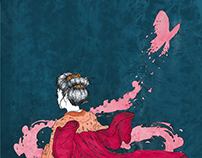 Madame Butterfly Poster | Digital and Traditional