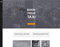 Order a Taxi – Website Design UI
