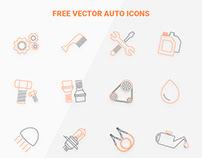 free vector auto icon set