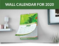 Wall Calendar For 2020