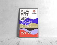 Free Branding Framed Poster Mockup