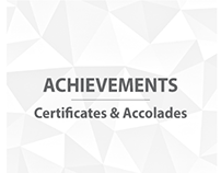 Achievements | Certificates & Accolades