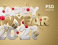 Happy New Year 2021 Vol.3/ 4000×2500 pixels / PSD