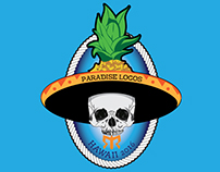 Digital Illustration for Paradise Locos Running Team