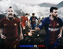 Match Card ( Barca Vs Roma )