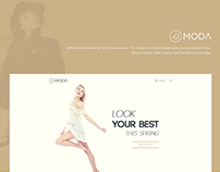 La Moda Fashion Website Design