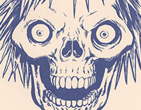 Charge Hair Skull Screen Print