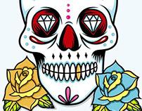 """illustration """"Mexican Skull"""""""