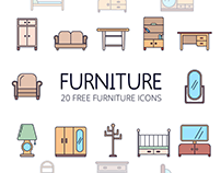 Furniture Free Vector Icon Set