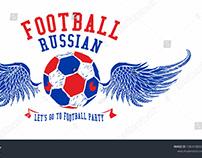 Russia football sportswear graphic design vector art