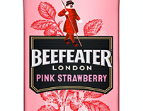 Beefeater London Labels Illustrated by Steven Noble