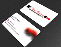 Business Card for Professional Makeup Artist