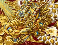 VANDAVANDA Dragon Scarf