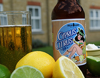 Cyprus Citrus beer label design