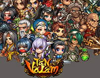 "Characters design game ""Tan Vo Lam"" 2015"