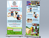 Two banners for a trade show