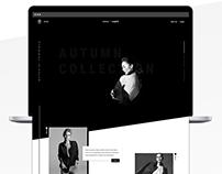 Minimal Fashion Web Design
