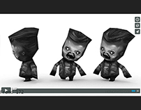 Low Poly Zombie Character Animation Test