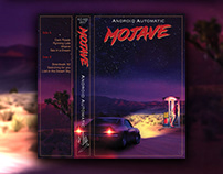 Mojave - Synthwave Album Cover Design