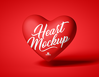 Free Heart Mockup