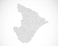 Freebie - Mapas de Sergipe e Aracaju em Vetor