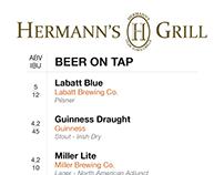 Hermann's Beer Menu Concept