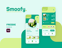 UI Design FREEBIE - Smoothie Shop App
