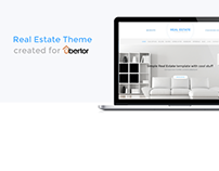 Real Estate Theme created for Ubertor